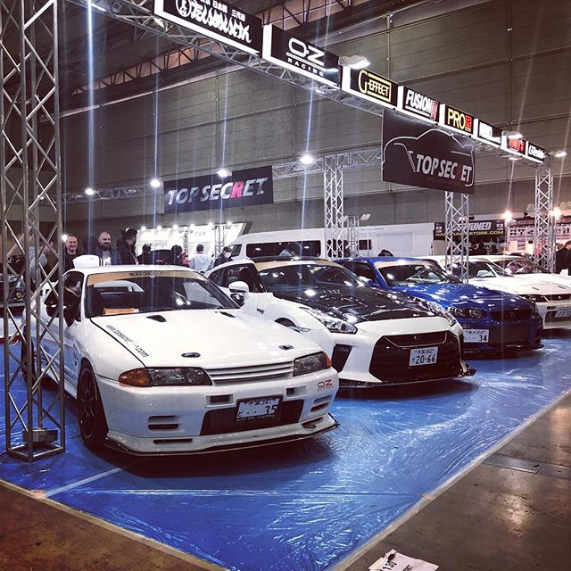 今日は東京オートサロン@TOPSECRETブースのお手伝い️ 早めにあがらせてもらって工場戻って自分のブースやらないと#tokyoautosalon #tas #東京オートサロン #topsecret #gtr #gtr35 #gtr32