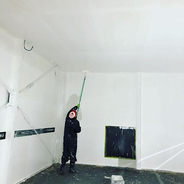 天井塗るのキツいね#自作ブース #塗装ブース #diy #ペンキ屋 #千葉北 #鈑金塗装